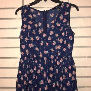 Navy Floral Mini-dress